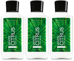 Bath & Body Works White Citrus For Men Body Lotion 8 fl oz Set Of 3 Bottles - $29.19