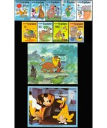 TOGO DISNEY CHARACTERS SET OF 9 & TWO SOUVENIR SHEETS #1064-72A + PLUTO ... - $17.50