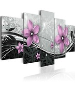 Giant Purple Flower Wall Art Painting Print on Canvas Modern Picture 5 P... - $181.12