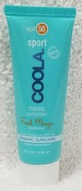Coola Sport Classic Sunscreen FRESH MANGO SPF50 Moisturizer Face .5 oz/15mL New - $10.38