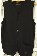 "WILLIAM HUNT Savile Row Waistcoat S 35"" Merino Sleeveless Jumper Sweater... - $60.94"