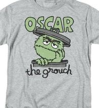 PBS Sesame Street Oscar the grouch Retro 60's 70's graphic gray t-shirt SST118 image 3