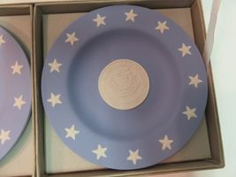 Wedgwood Jasper Blue Compotiers State Seal Series Delaware Small Plates in Box image 3
