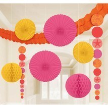 Pink & Orange Seashells Tropical Summer Luau Theme Party Room Decorating... - £14.26 GBP