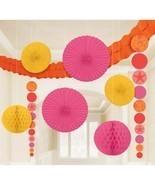 Pink & Orange Seashells Tropical Summer Luau Theme Party Room Decorating... - £13.96 GBP