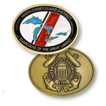 "9TH NINTH COAST GUARD DISTRICT GUARDIANS OF THE GREAT LAKES 2"" CHALLENGE... - $18.04"