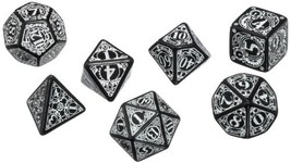 Q Workshop Steampunk Dice Set, Black/White - $20.30