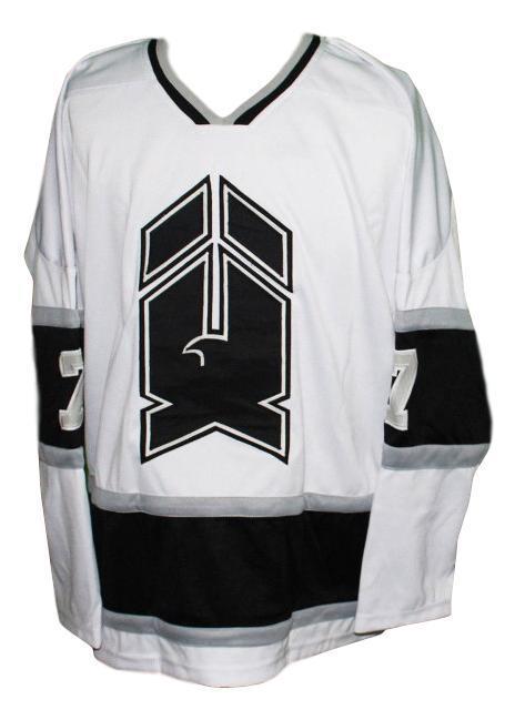 New haven nighthawks retro hockey jersey 1980 white black   1