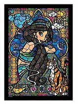Jigsaw puzzle Stained Art Aladdin Jasmine Stained-glass windows tightly series - $20.77