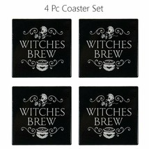 Witches Brew Ceramic Coaster With Cork Backing Set of 4 - $23.74