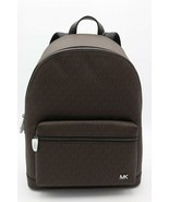 NWT MICHAEL KORS Mens Brown Signature Jet Set Logo Backpack Bag New $398 - $248.00