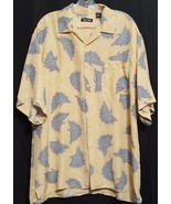 Bobby Chan Mens Size XL 100% Silk Hawaiian Short Sleeve Button up Shirt - $12.83