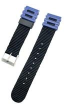 Timex Aventurier Noir & Bleu 20mm Nylon & Résine / PVC Remplacement Mont... - $7.90