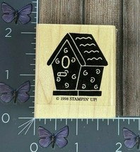 Stampin' Up! Birdhouse Swirl Pattern Rubber Stamp 1998 Country Wood Mount #AA129 - $2.48