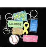 Lot of 8 Keychains Key Rings Assorted - $6.00