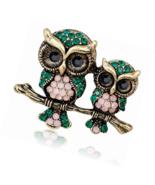 Owl Couple Fashion Brooch Pins for Clothing Rhinestone Brooches Animal C... - $16.00