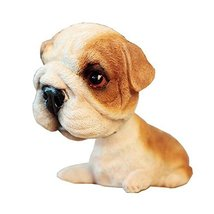 [Bulldog] Bobbleheads Car Ornaments Resin Car Decoration,4.7x2.3''