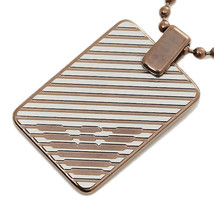 Emporio Armani Men's Gunmetal PVD Layers Necklace - RRP £115 - EGS2132040 - $90.63