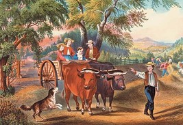 Haying Time by Nathaniel Currier - Art Print - $19.99+