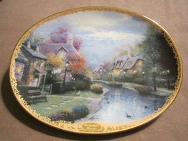 LAMPLIGHT BROOKE collector plate THOMAS KINKADE Lamplight Village - $19.99