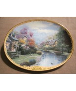 LAMPLIGHT BROOKE collector plate THOMAS KINKADE Lamplight Village - $19.99