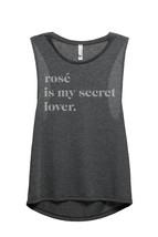 Thread Tank Rose Is My Secret Lover Women's Sleeveless Muscle Tank Top Tee Charc - $24.99+