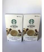 2 Starbucks VIA Instant Caffe Mocha Latte 5 Packets Each 1.30 oz, Bb 1/21 - $14.99