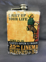 Light Up Life Lineman's Rodeo Flask 8oz Stainless Steel Drinking  Cleara... - $9.90