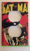 Batman Comic Book Light Switch Duplex Power Outlet Wall Cover Plate Home Decor image 2