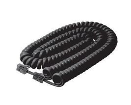 Coiled Telephone Handset Cord, Steren Black Landline Phone Coiled Handse... - $12.99