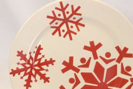 "Canterbury First Frost Red Snowflake Xmas Dinner Plates 10.75"" Lot of 8 image 4"