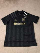 Adidas LAFC Home Womens Jersey 2020/21 Black And Gold Size Small EH6633 - $44.54