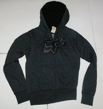 Fox Racing Syndicate Heather Black Sherpa Hoodie Size Small BNWT - $64.99