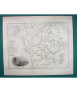 ITALY Plan of Ancient Rome -  Fine Quality MAP from 1854 - $20.21