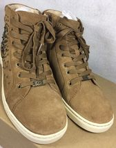 UGG Australia GRADIE DECO STUDS LEATHER Chestnut HIGH TOP SNEAKERS 1013911 image 7
