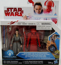 Hasbro STAR WARS Episode 8 FORCE LINK JEDI REY AND GUARD 3.75 INCH 2 pac... - $18.32