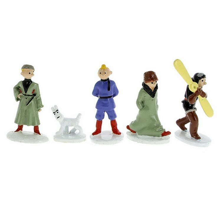 Tintin in the land of Soviets mini metal collectible figurines
