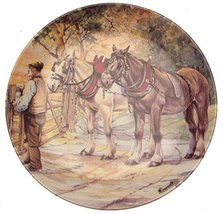 Danbury Mint Wedgwood of Etruria Though The Gate and Home from The Working Horse - $38.21