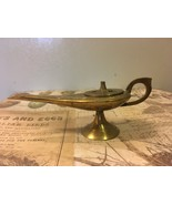 Vintage Genie Lamp Brass Incense Burner Boho Decor Etched Brass - $11.00