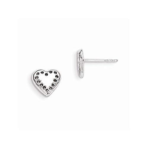 Primary image for Sterling Silver Heart Mini Earrings