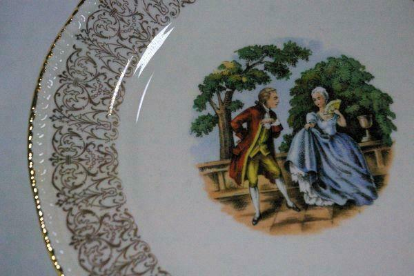Homer Laughlin 1950's Liberty Line Courting Couple Bread Plate image 2