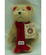"""Boyds LIL' MUFFELBEARY TEDDY BEAR W/ RED SCARF 6"""" Plush STUFFED ANIMAL NEW - $16.34"""