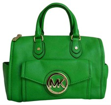 Michael Kors Margo Palm Green Leather Top Zip Satchel Purse Crossbody Bag ❤Nwt❤ - $198.00