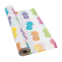 "Bright Pineapple Tablecloth Roll 100 ft x 40"" - $29.44"