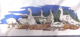 Paragon 2544 Geese Stitchery Picture Kit 18 by 36 Inches New Old Stock 1986 - $14.84