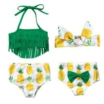 New Arrivels Newborn Baby Girl Tassel Top Shorts Swimwear Swimsuit Bathing - $10.68+