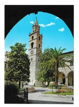 Italy Teramo Cathedral Santa Maria Assunta Belfry Tower Campanile Postca... - $5.70