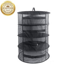 4 Layer Herb Dehydrator Rack Tray Hanging Solar Jerky Meat Beef Fruit Fo... - £18.14 GBP