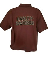 Harley Davidson Burgundy Embroidered Wings Button Front Shirt XL Pockets... - $49.49