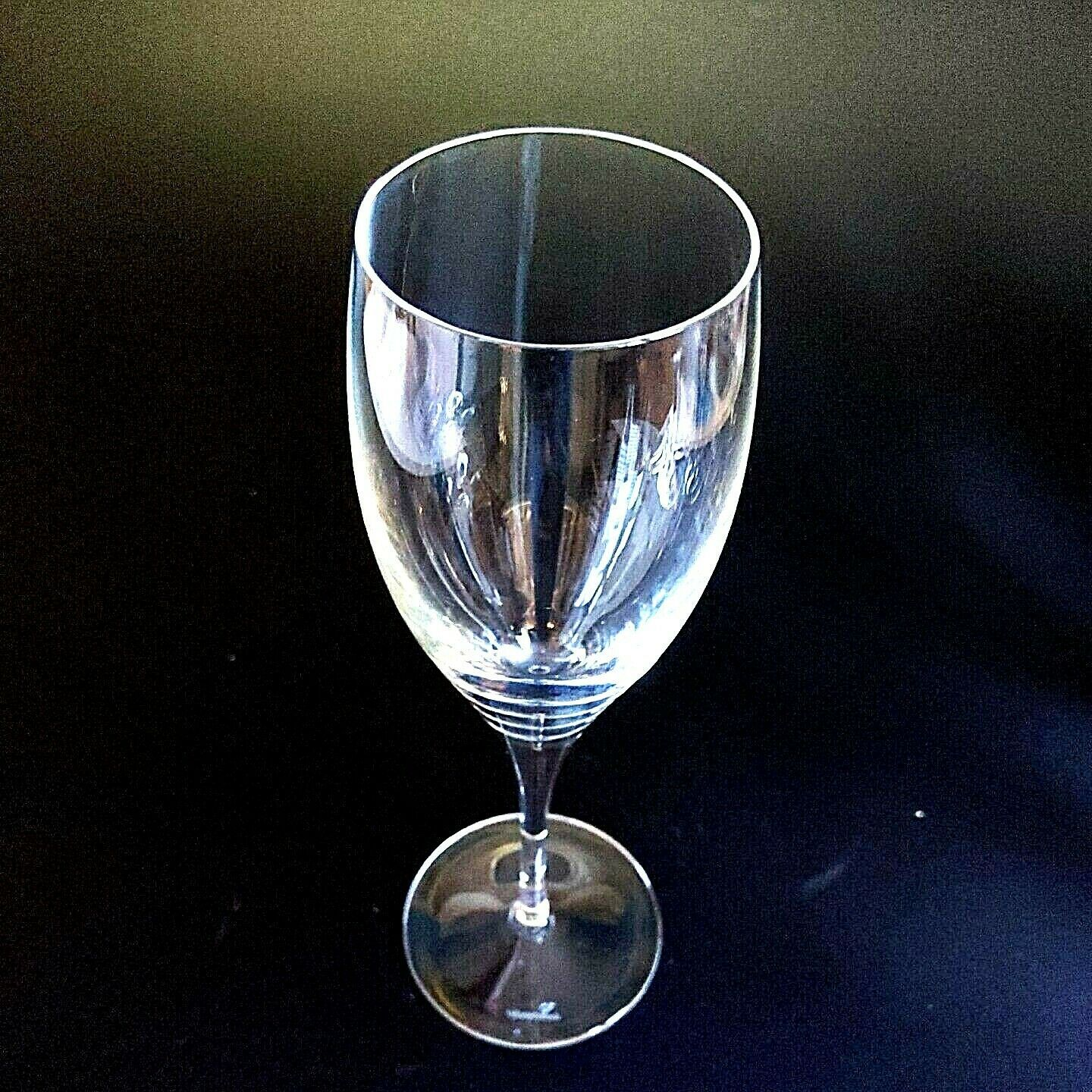 6 (Six) VILLEROY & BOCH TORINO Hand Blown Crystal Champagne Flutes D/C -Signed image 4
